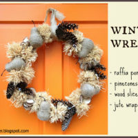 """W"" is for Winter Wreath"