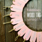 """W"" is for Wood Tag Wreath"