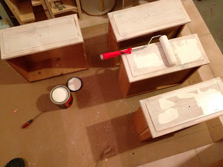 painting pine dressing table drawers