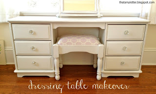 kids dressing table makeover