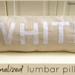 """L"" is for Lumbar Pillow"