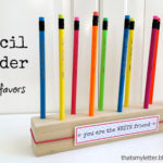 """P"" is for Pencil Holder Favors"