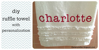 diy ruffle towel with personalization