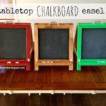 DIY Tabletop Chalkboard Easel