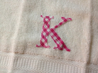 how to monogram hand towels