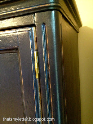 armoire makeover detail
