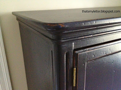 distressed painted armoire