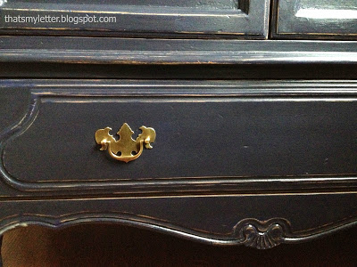 brass pulls on armoire