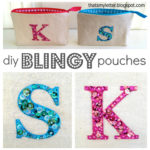 """B"" is for Blingy Letter Pouch"