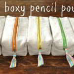 DIY Boxy Pencil Pouches