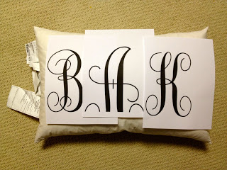 how to sew a monogrammed pillow