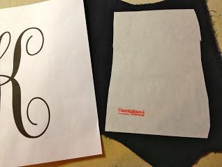 how to make a monogram using fabric