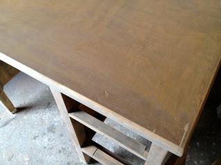 vintage desk stripped top