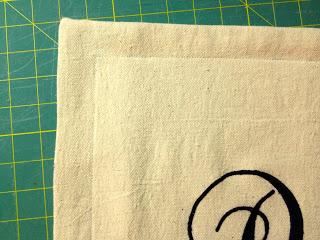 top stitch pillow flange