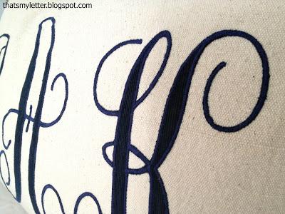 zip zag stitched monogram
