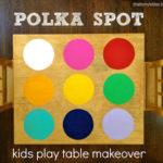 DIY Polka Spot Table Makeover