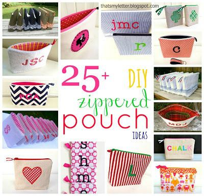25+ diy zippered pouch ideas collage