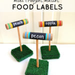 DIY Mini Croquet Mallet Food Labels