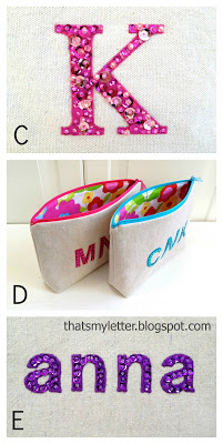 personalized pouches with sequins