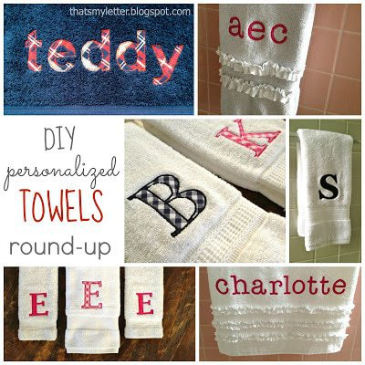 6 ideas for diy personalized towels
