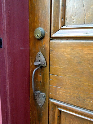 exterior primitive front door hardware