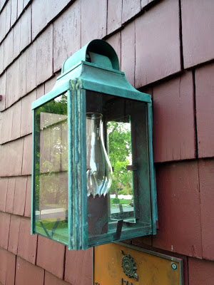exterior copper sconces