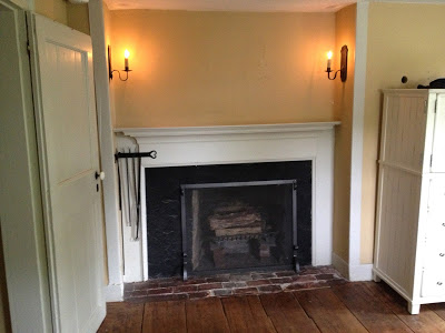 master bedroom fireplace and mantel