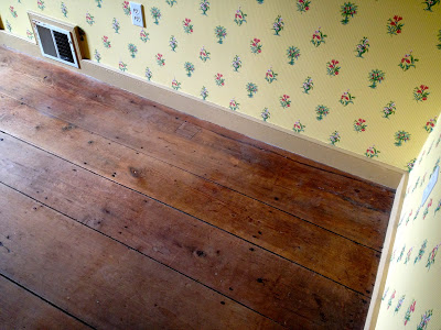 original 1740 wide planked wood floors
