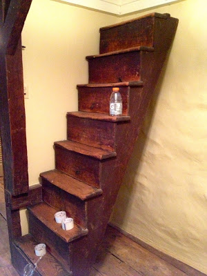 original staircase to attic