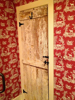 rustic farmhouse bathroom door