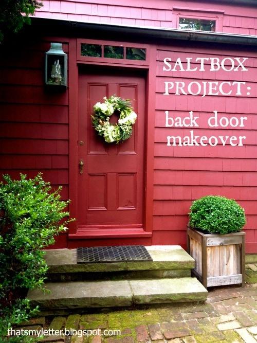 primitive farmhouse back door makeover