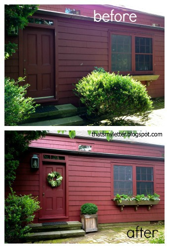 primitive farmhouse back door before and after