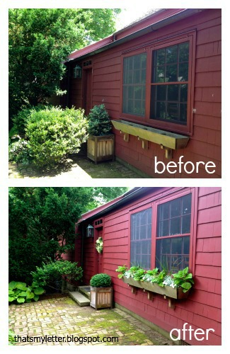 windowbox back door before and after