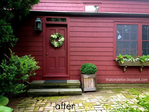 farmhouse back door after