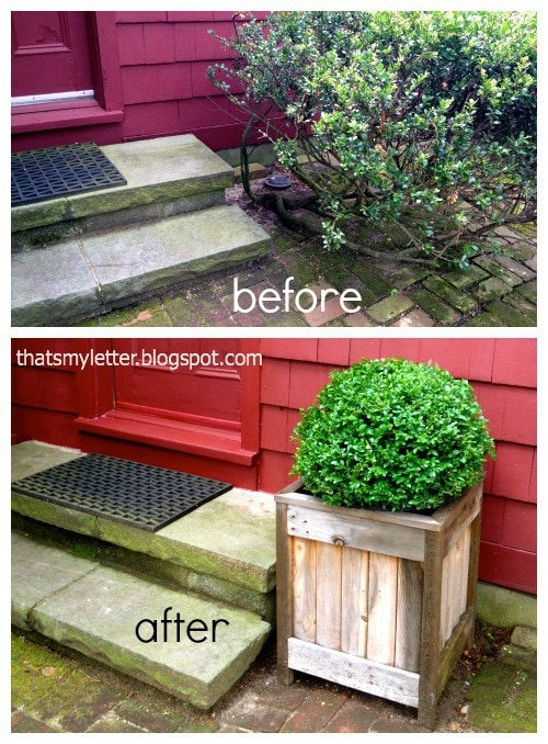 back door steps before and after