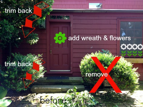 farmhouse back door before plans