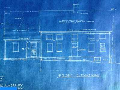 front elevation blue prints