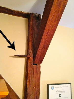 post and beam construction in loft area