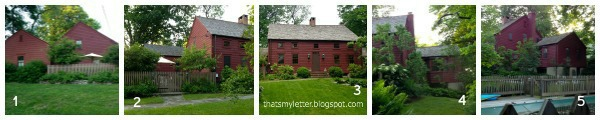 historical primitive saltbox farmhouse