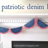 """P"" is for Patriotic Denim Bunting"