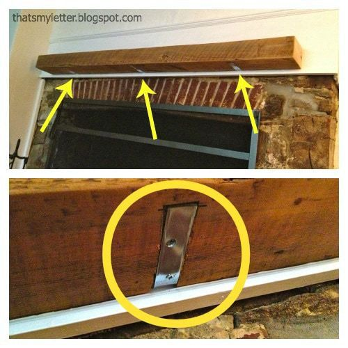 how to install a wood beam mantel