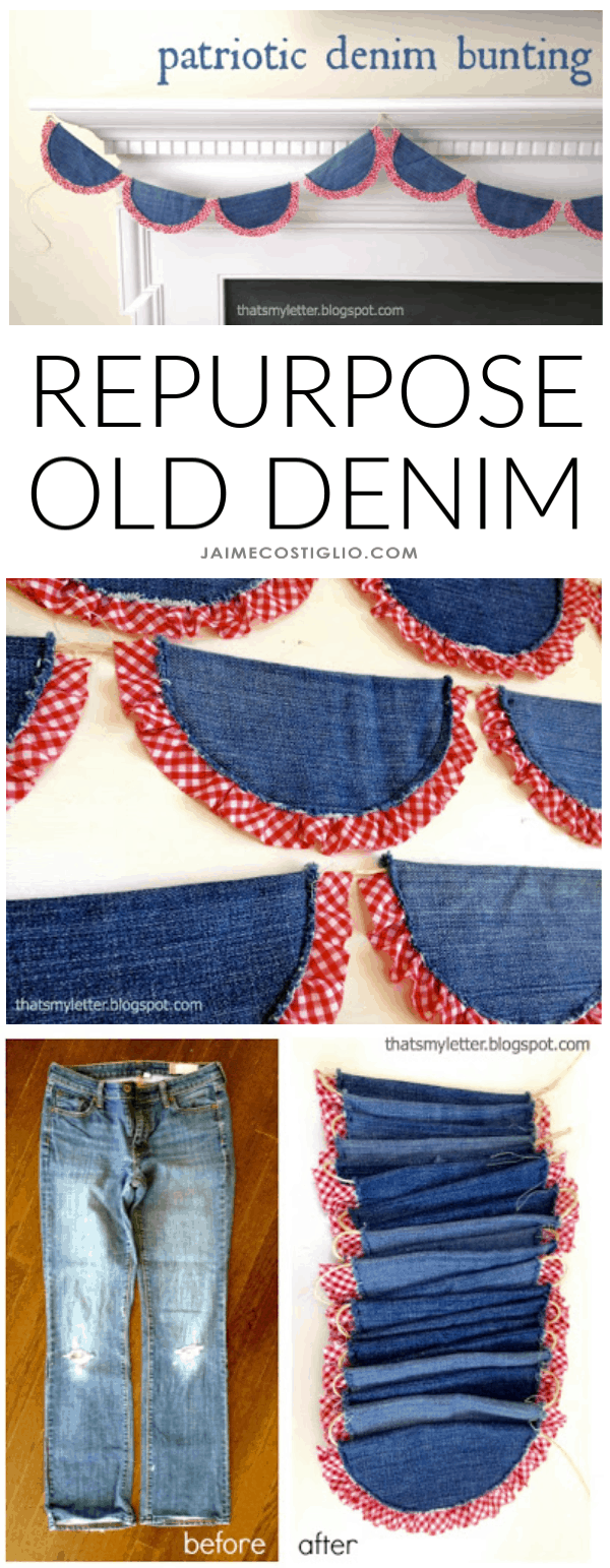 diy denim bunting