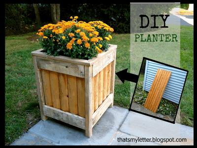 diy planter from cedar fence scraps