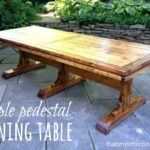 DIY Triple Pedestal Dining Table