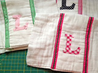 how to make personalized burp cloths