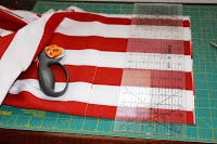 clear quilting ruler and rotary cutting tool