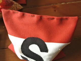 pin opening shut to whip stitch closed