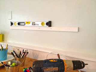installing wall hutch over cleat