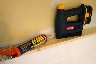 construction adhesive and nail gun