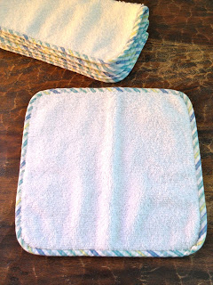 how to add bias trim edge detail to baby washcloths